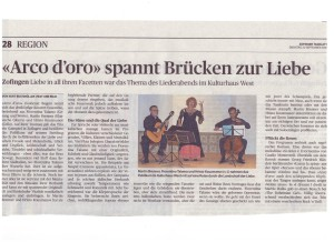 Rezension Zofinger Tagblatt